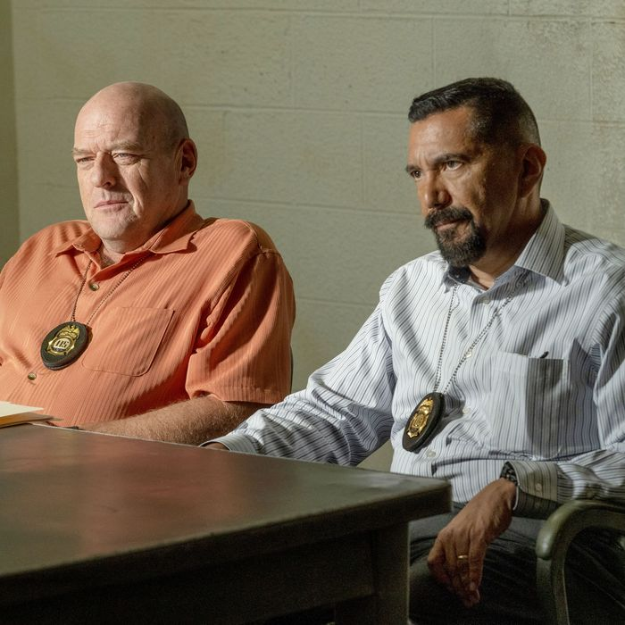 Dean Norris and Steven Michael Quezada in Better Call Saul.