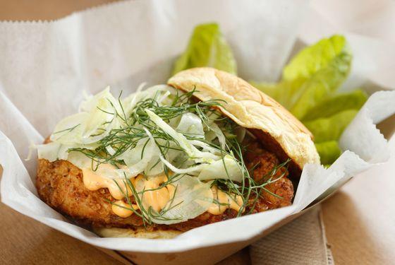 Buttermilk-Battered Chicken Sandwich.