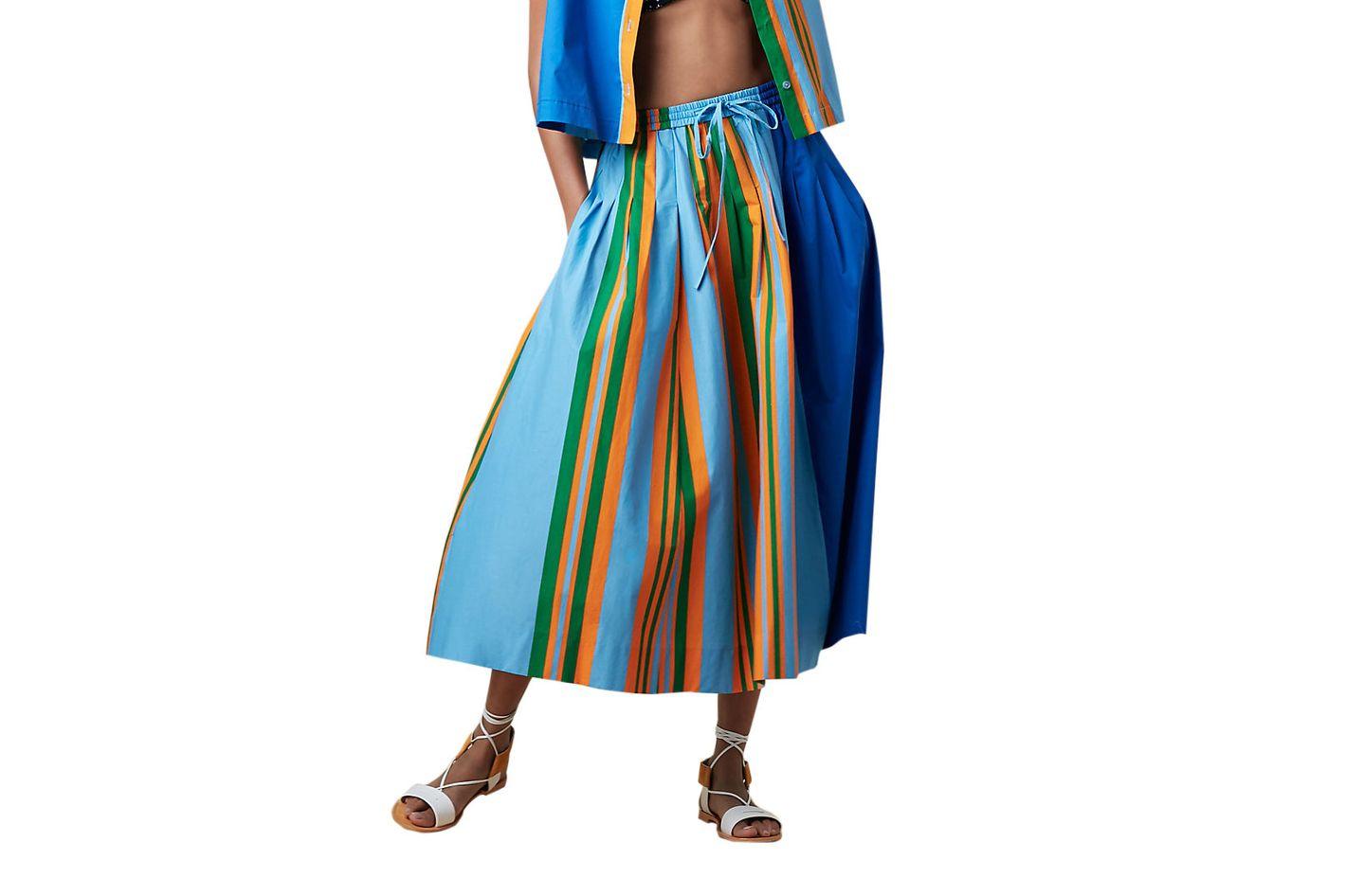 Poplin Drawstring Skirt