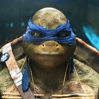 Leonardo in TEENAGE MUTANT NINJA TURTLES, from Paramount Pictures and Nickelodeon Movies.