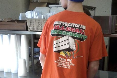 b883825251 South Carolina Restaurant Makes Employees Wear  How to Catch an Illegal  Immigrant  T-Shirt