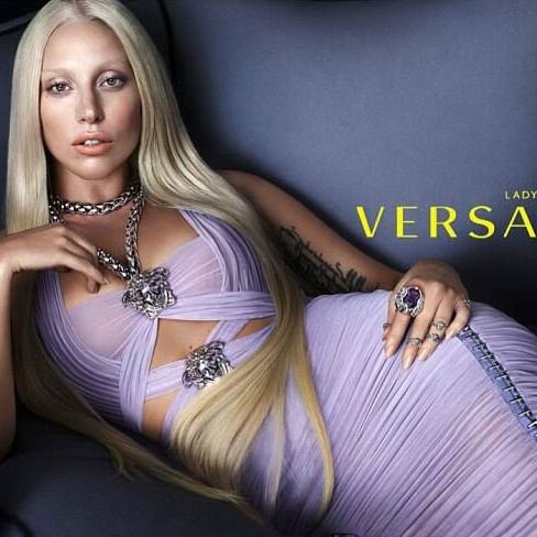 Lady Gaga for Versace.
