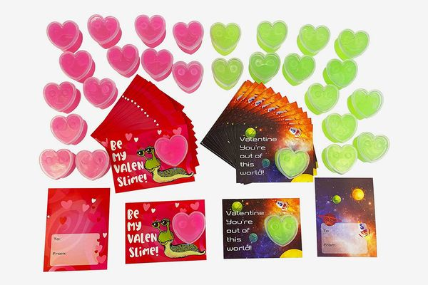 Slime Valentines Day Cards