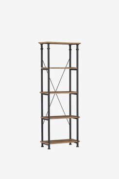 Homelegance Factory 4-Tier Bookcase, Rustic Brown