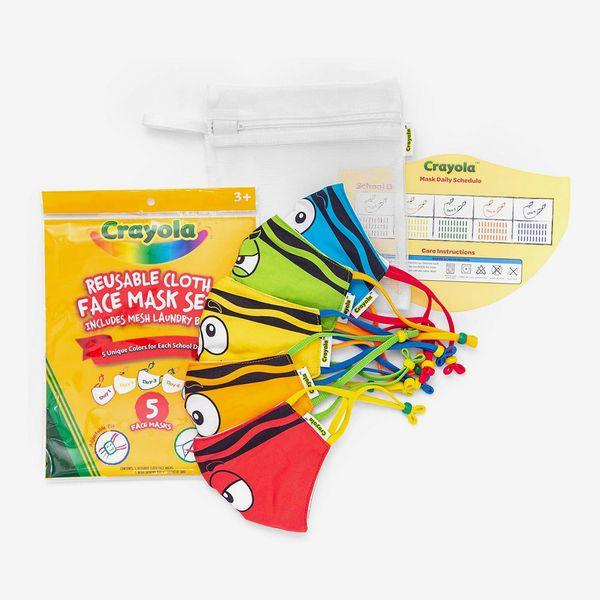 Crayola Kids Face Mask — 5 Reusable Cloth Face Mask Set