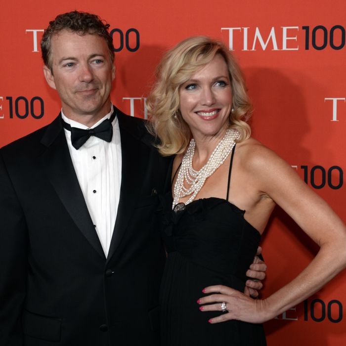 Rand Paul, United States Senator for Kentucky, and wife Kelley attend the Time 100 Gala celebrating the Time 100 issue of the Most Influential People In The World at Jazz at Lincoln Center on April 23, 2013 in New York.