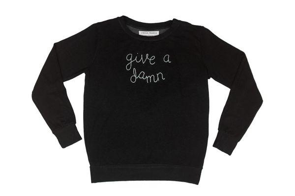 "Lingua Franca x Stateside ""Give a Damn"" Sweatshirt"