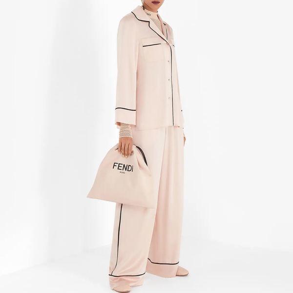 Fendi Pink Silk Pajamas