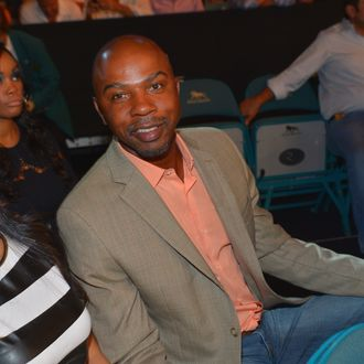LAS VEGAS, NV - SEPTEMBER 14: Television personality and former NBA player Greg Anthony attends the Floyd Mayweather Jr. vs. Canelo Alvarez boxing match at the MGM Grand Garden Arena on September 14, 2013 in Las Vegas, Nevada. (Photo by Bryan Steffy/Getty Images for Showtime)