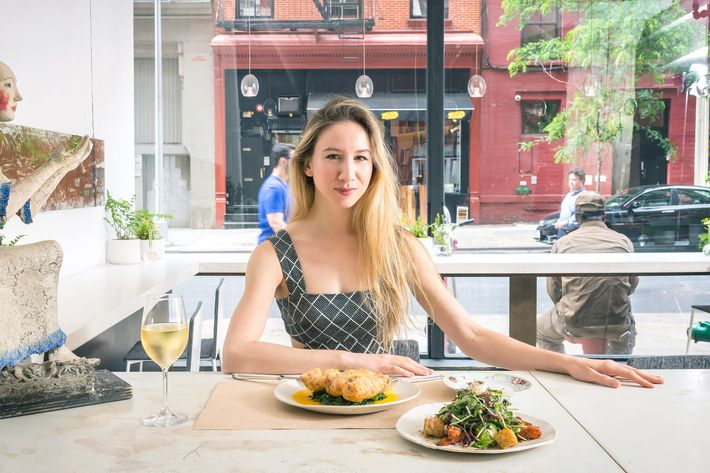 """I've always been a pretty adventurous eater,"" says Boylston, at ABC Kitchen."