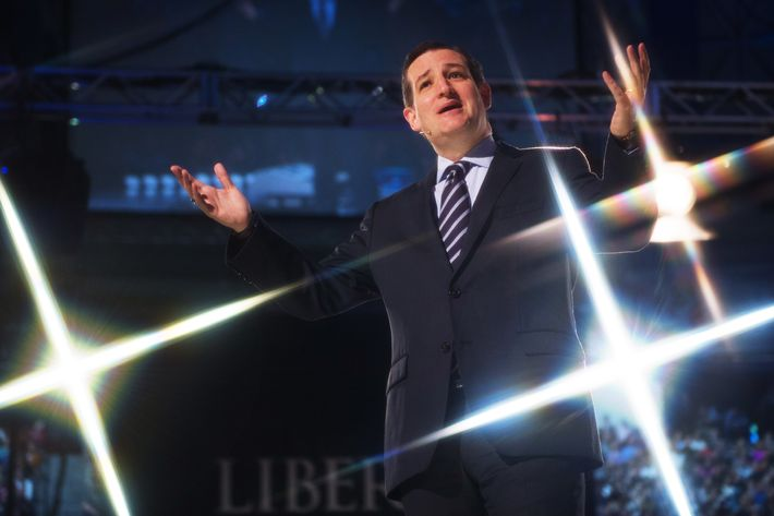 Ted Cruz delivers remarks before announcing his candidacy for the Republican nomination to run for US President March 23, 2015, at Liberty University, in Lynchburg, Virginia.