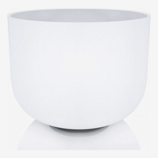 White Frosted Quartz Crystal Singing Bowl