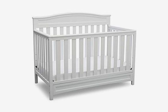 Delta Children Emery 4-in-1 Convertible Baby Crib, White