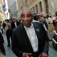 NEW YORK - SEPTEMBER 01:  U.S. Representative Charles Rangel (D-NY) smiles after a rally for the unemployed in downtown Manhattan September 1, 2010 in New York City. Rangel and other speakers called for increased funding for American jobs programs and mustered support for a march on Washington in October.  (Photo by Chris Hondros/Getty Images) *** Local Caption *** Charles Rangel