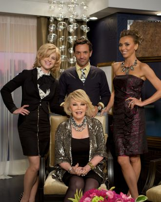 Joan Rivers and her <em>Fashion Police</em> panel.