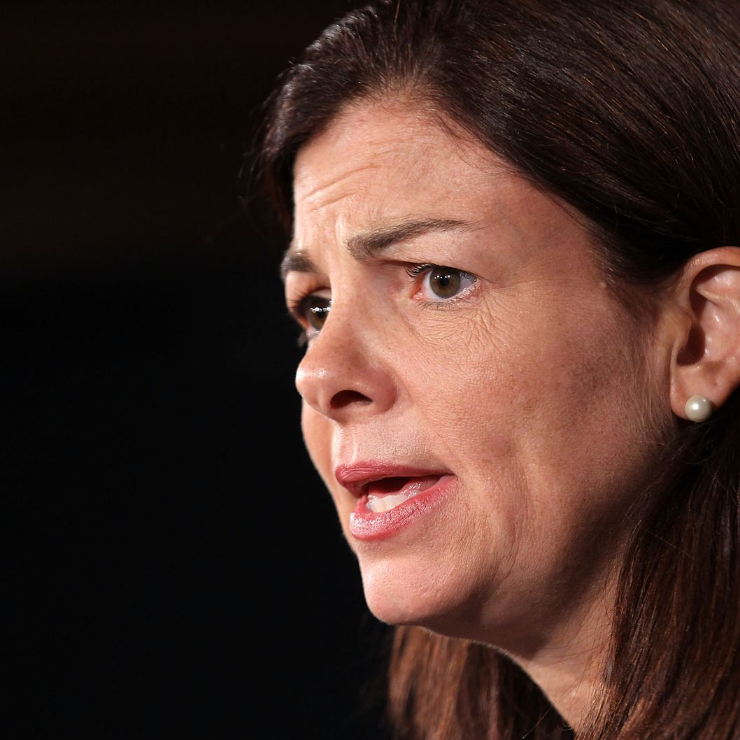 WASHINGTON, DC - SEPTEMBER 08:  U.S. Sen. Kelly Ayotte (R-NH) speaks during a news conference September 8, 2011 on Capitol Hill in Washington, DC. Senate Republicans held a news conference to discuss jobs, the economy, and President Barack Obama speech on jobs tonight.  (Photo by Alex Wong/Getty Images)