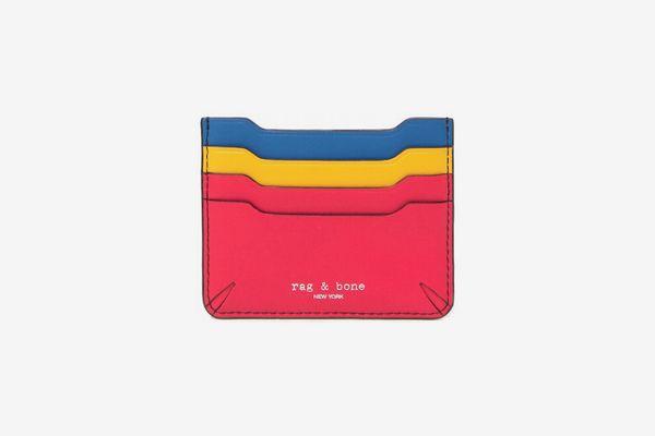 Rag & Bone Colorblock Leather Card Case