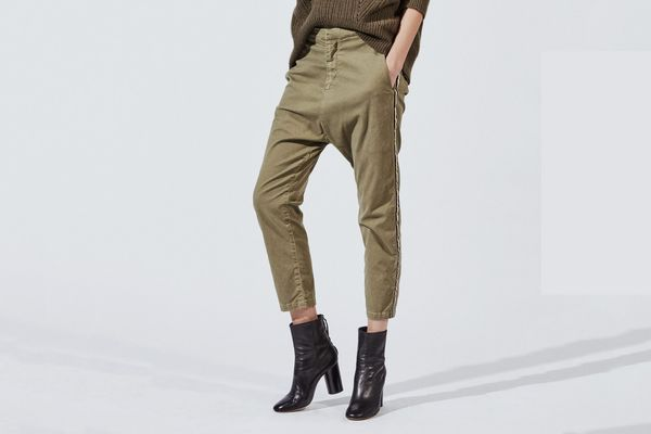 Nili Lotan Paris Cotton Twill Pants with Tape