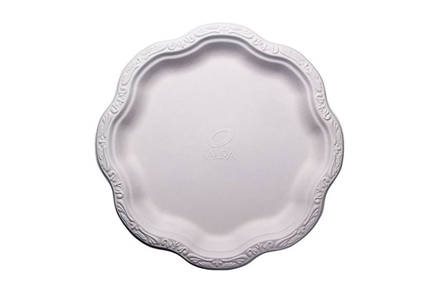 10-Inch Disposable Floral Large Premium White Plates Acanthus Collection  sc 1 st  NYMag & Best Fancy Disposable Plates on Amazon