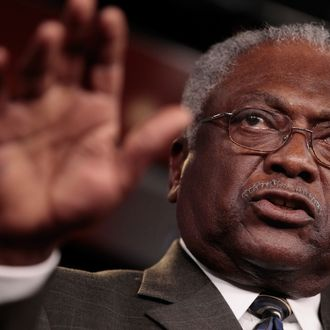 House Democratic Assistant Leader Rep. James Clyburn (D-SC) speaks during a news conference at the U.S. Captiol September 6, 2011 in Washington, DC. Clyburn has been tapped by Pelosi to be a member of the Joint Select Committee on Deficit Reduction, or