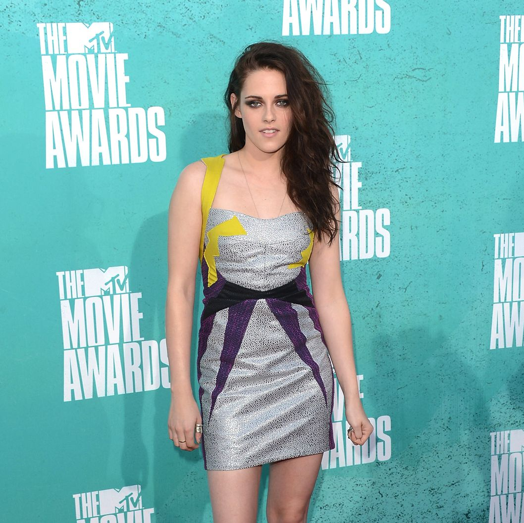 Actress Kristen Stewart arrives at the 2012 MTV Movie Awards held at Gibson Amphitheatre on June 3, 2012 in Universal City, California.