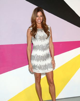 NEW YORK, NY - FEBRUARY 13: Kelly Bensimon poses on the runway at the Alice + Olivia Fall 2012 Presentation during Mercedes-Benz Fashion Week at Center 548 on February 13, 2012 in New York City. (Photo by Astrid Stawiarz/Getty Images)
