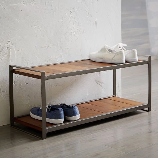 West Elm Industrial Shoe Rack