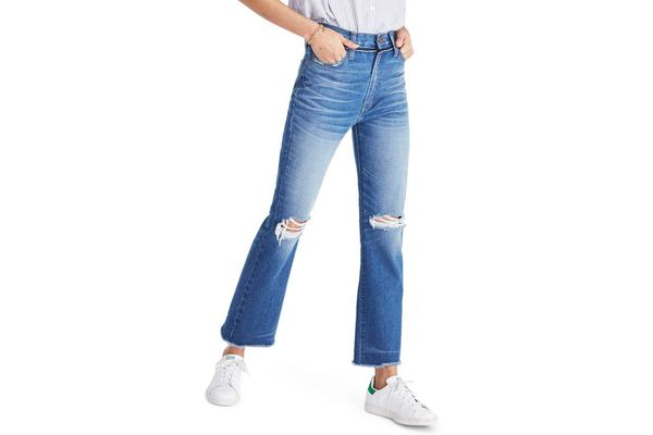 Madewell Retro Ripped Knee Crop Jeans