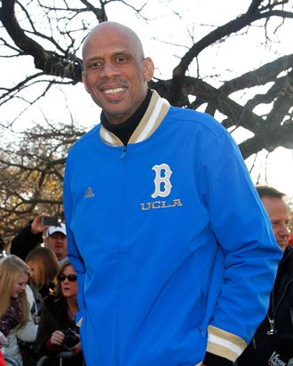 Kareem Abdul Jabbar 86th Annual Macy's Thanksgiving Day Parade on November 22, 2012 in New York City.