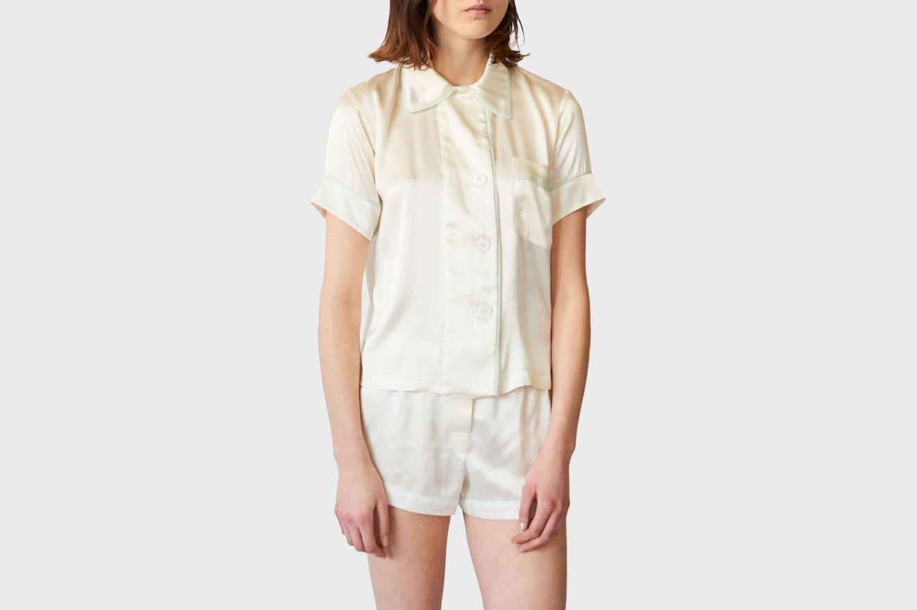Araks Shelby Pajama Top Porcelain
