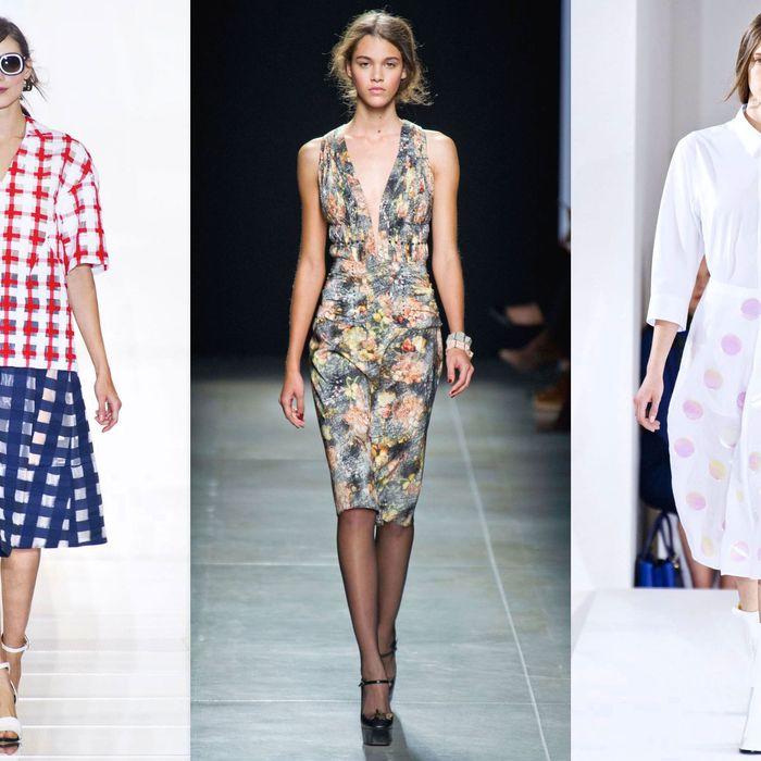 From left: Marni, Dolce & Gabbana, and Jil Sander.