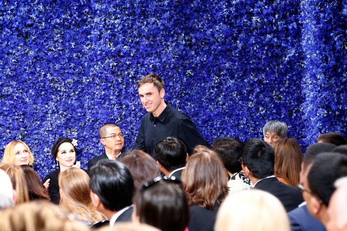Raf Simons at his first Dior show.