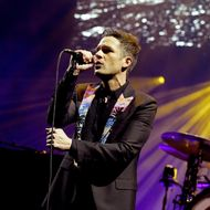 The Killers With Wayne Newton Perform At Grand Opening Of T-Mobile Arena