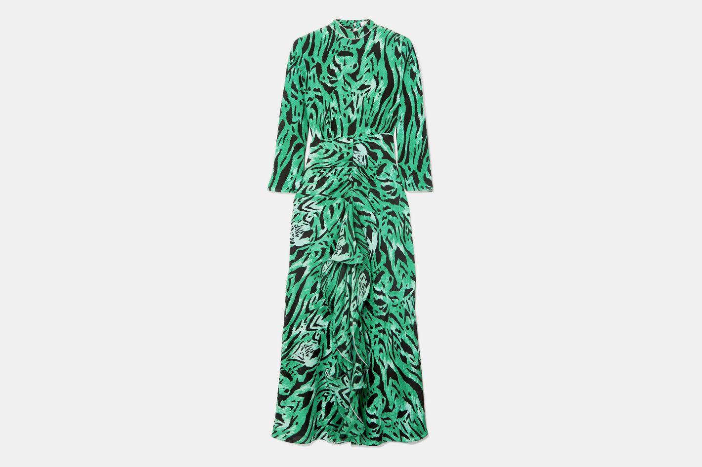 Rixo London Lucy Open-Back Silk Midi Dress