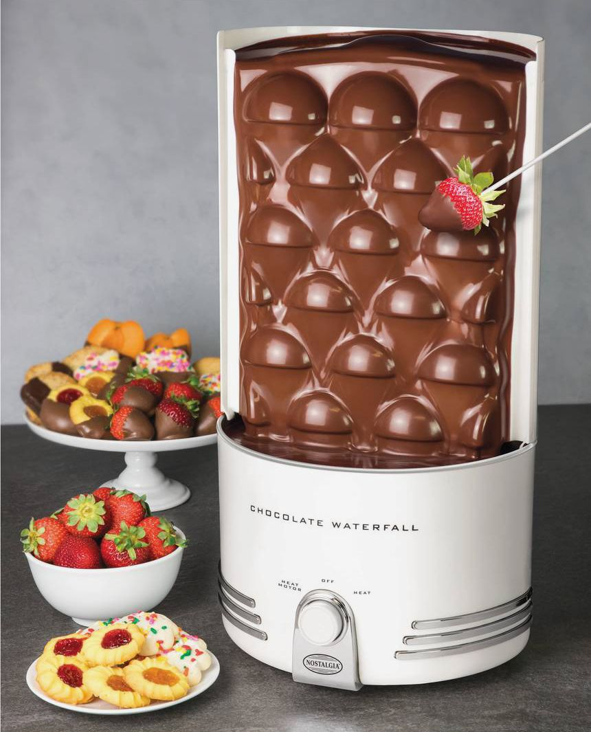 Nostalgia Electrics Chocolate Waterfall Wall Fountain