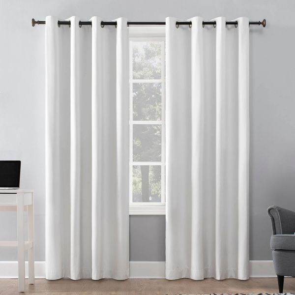 Duran 100 Percent Blackout Thermal Insulated Grommet Top Curtain Panel — Sun Zero