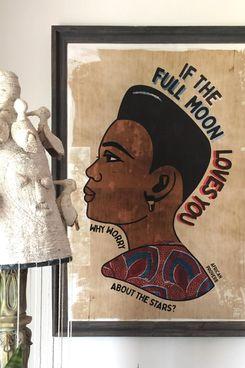 Don't Sleep Interiors Modern African Barber Shop Sign Poster