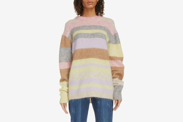 Acne Studios Kalbah Stripe Wool & Mohair Blend Sweater