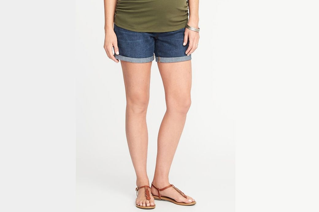 "Old Navy Maternity Side-Panel Denim Shorts (5"")"