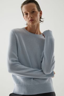 Cos Cashmere Ribbed Detail Sweater