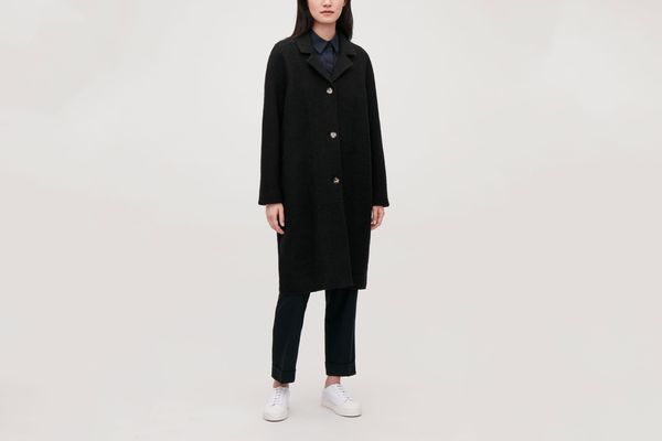 COS Single-Breasted Jersey Car Coat