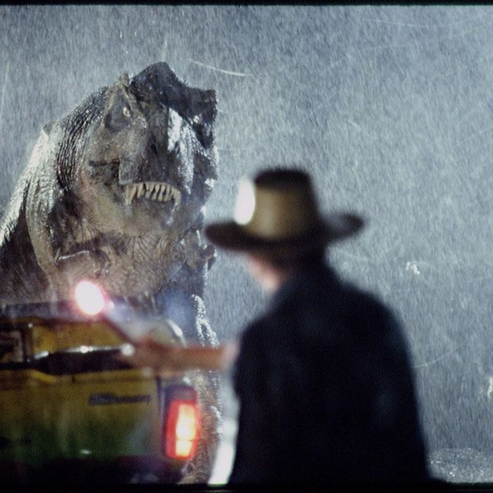 Scene from 1993 motion picture Jurassic Park