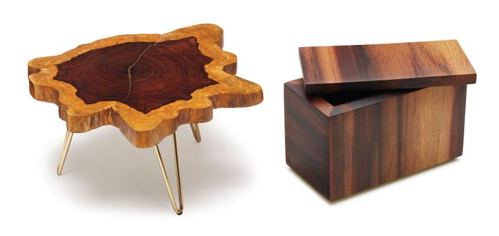 The U201cAmoeba Tableu201d And Box Are Made Of Wamara, A Dense And Heavy Central  American Wood. Photo: Julie Benedetto