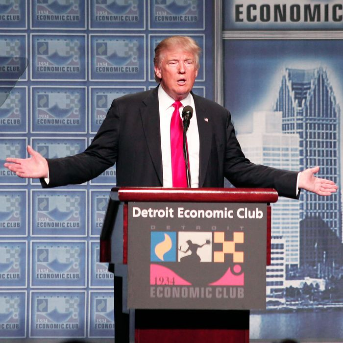 Donald Trump in Detroit.