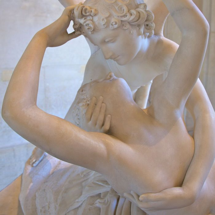 Psyche Revived by Cupids Kiss by Antonio Canova, marble sculpture, 1787