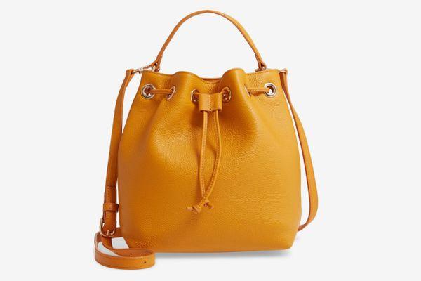 Delilah Leather Bucket Bag