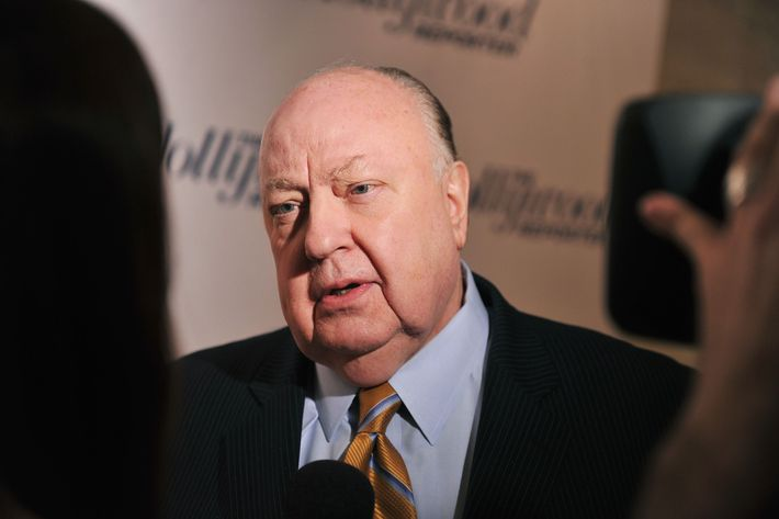 "Roger Ailes, President of Fox News Channel attends the Hollywood Reporter celebration of ""The 35 Most Powerful People in Media"" at the Four Season Grill Room on April 11, 2012 in New York City. NEW YORK, NY - APRIL 11:  Roger Ailes, President of Fox News Channel attends the Hollywood Reporter celebration of ""The 35 Most Powerful People in Media"" at the Four Season Grill Room on April 11, 2012 in New York City.  (Photo by Stephen Lovekin/Getty Images)"