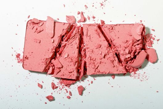 Crushed powder blush.
