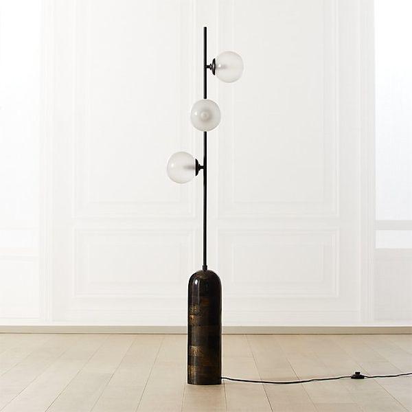 CB2 Aristocrat 3 Globe Floor Lamp