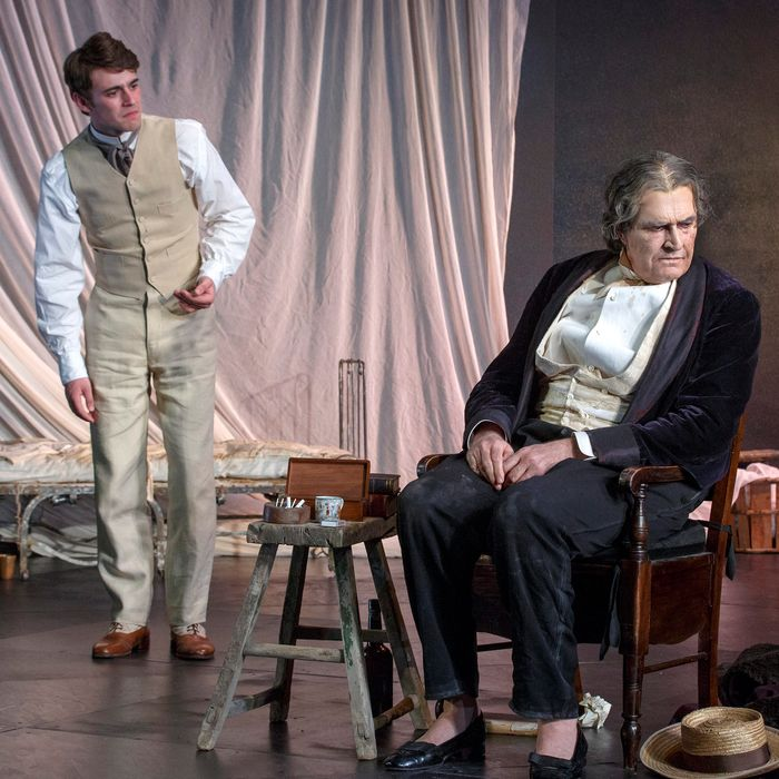 Set design by Dale FergusonLighting design by Rick FisherCostume design by Sue BlaneSound design by Paul GroothuisComposed by Alan JohnChichester Festival Theatre in association with Robert Fox, Theatre Royal Bath Productions, and Hampstead Theatre